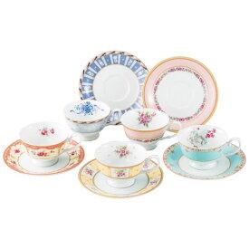 【送料無料】鳴海製陶 フローラルブティック 5客アソート碗皿 41721-33459