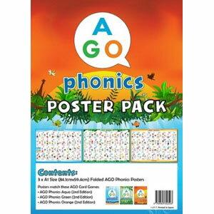 AGO AGO Phonics 教室用ポスターセット (Level 1-3) Classroom Poster Set (Level 1-3) [AGO カードゲーム]