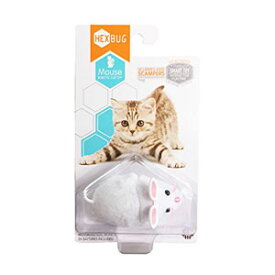 Hexbug Go!Go!突撃マウス! 猫用おもちゃ ホワイト