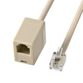 サンワサプライ 電話延長ケーブル ベージュ 2m TEL-EX8-2K2