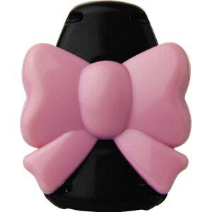 ソニック キッズクリップ リボン 服に穴が開かない名札留め ピンク