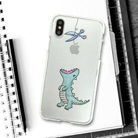 【お試し送料無料】Dparks ディーパークス iPhone 5.8/iPhone X ソフトクリアケース ファンタジー はらぺこザウルス グリーン DS10369i8【smtb-u】