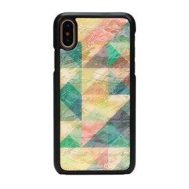 【お試し送料無料】ikins アイキンス iPhone 5.8/iPhone X 天然貝ケース Mosaic ブラックフレーム I10986i8【smtb-u】