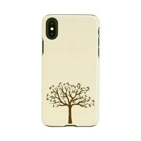 【お試し送料無料】Man & Wood マンアンドウッド iPhone 6.1/iPhone XR 天然木ケース Apple tree I13870i61
