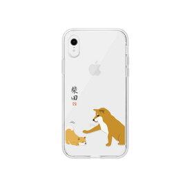 【お試し送料無料】abbi FRIENDS アビィフレンズ iPhone 6.1/iPhone XR しばたさんクリアケース 子犬 ABF14576i61【smtb-u】