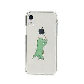 【お試し送料無料】Dparks ディーパークス iPhone 6.1/iPhone XR ソフトクリアケース お絵かきザウルス グリーン DS14812i61【smtb-u】