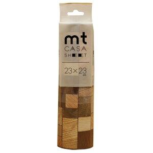 カモ井加工紙 カモイ mt CASA マスキングテープ SHEET 壁用 木の断面 小 230mm角 3枚パック S-33
