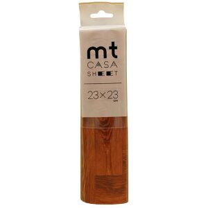 カモ井加工紙 カモイ mt CASA マスキングテープ SHEET 床用 茶色い木床 小 230mm角 3枚パック MT03FS2302
