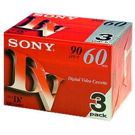 SONY ソニー ミニDVカセット 60分 3巻 3DVM60R3
