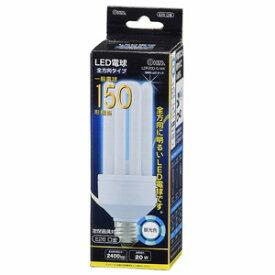 オーム電機 LED電球 D形 E26 150形相当 20W 昼光色 全方向タイプ 発光管露出形 LDF20D-G-WK