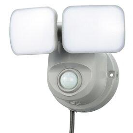 オーム電機 LEDセンサーライト 人感・明暗 コンセント式 2灯 OSE-LS800