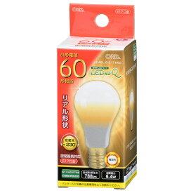 オーム電機 5年保証 LEDミニクリプトン形 E17 60W形相当 電球色 LDA6L-G-E17 IH92