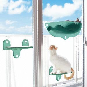 ドギーマンハヤシ キャティーマン ガラス窓にくっつける ねこちゃんの絶景リゾートテラス