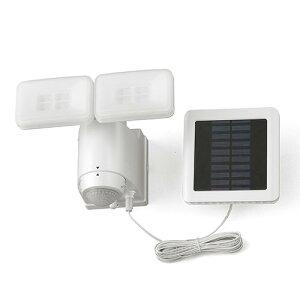 アイリスオーヤマ ソーラー式LED防犯センサーライト 800lm パールホワイト LSL-SBTN-800