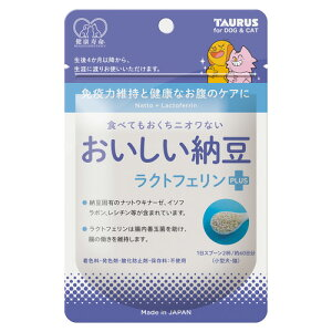 おいしい納豆 ラクトフェリン プラス ペット サプリ 犬 猫 栄養補給 納豆菌 善玉菌 粉末 30g トーラス ◇◇