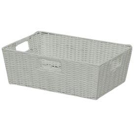 アイリスオーヤマ カラー編みバスケット ホワイト KAB-38