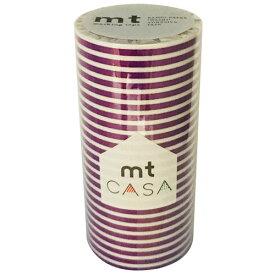 カモ井加工紙 カモイ mt CASA マスキングテープ Tape ボーダー・ぶどう 100mm×10m MTCA1109