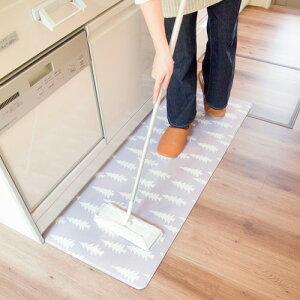 オカトー拭ける北欧風キッチンマット45×120ウッズ