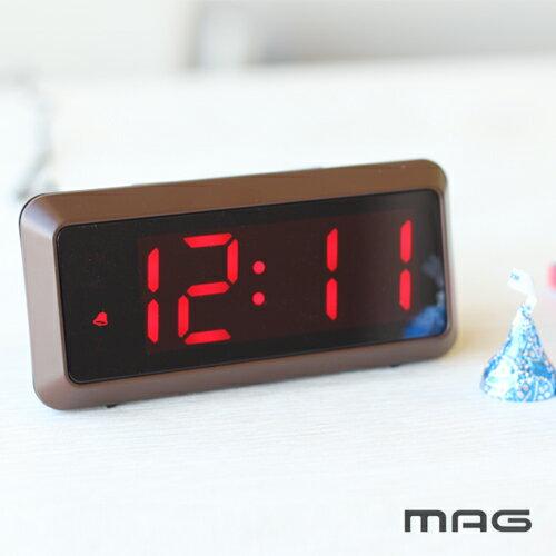 【あす楽】ノア精密 MAG デジタル時計 ドム T-676 BR