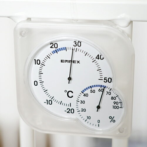【お試し送料無料】EMPEX エンペックス シュクレmidi温・湿度計 クリアホワイト TM-5601【smtb-u】
