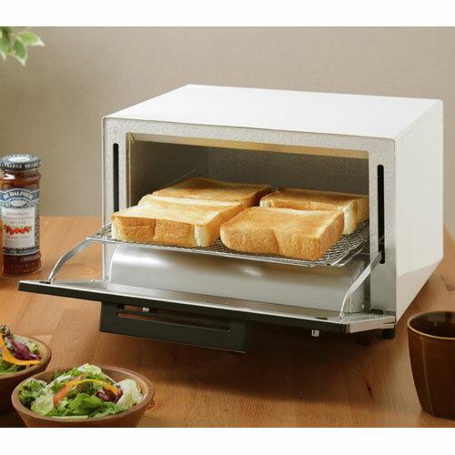 【送料無料】アイリスオーヤマ 4枚焼きミラーオーブントースター ホワイト MOT-013-W【smtb-u】