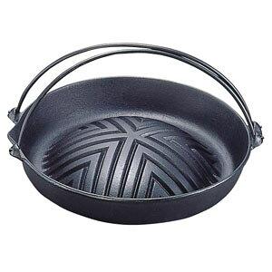 【送料無料】岩鋳 焼肉ジンギスカン鍋 ツル付 23-006 29cm QGV2301