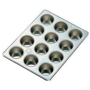 久保寺軽金属工業所 ブリキ マフィン型 #10カップ12ヶ付 WMH24