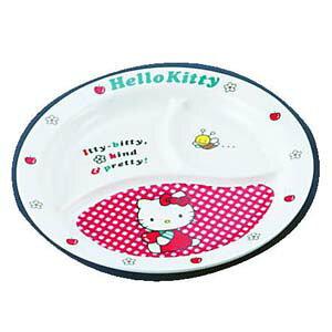 台和 メラミンお子様食器「ニューキティ」 丸ランチ皿(ギンガム) RLV73