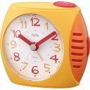 【ラッピング対象】ノア精密 felio 目覚まし時計 ペンパル オレンジ FEA167 OR-Z