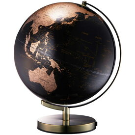 【送料無料】ナカバヤシ 光る地球型オブジェ ライティングアース 20cm ゴールド LE-20GL