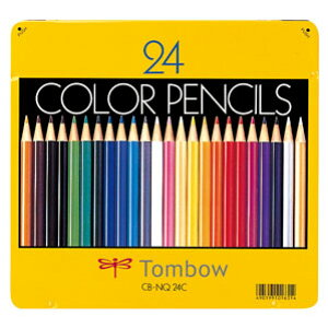 トンボ鉛筆 缶入色鉛筆 24色 NQ CB-NQ24C