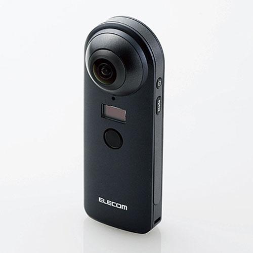 【送料無料】エレコム ELECOM 4K対応VRカメラ 4K スタンドアローンタイプ OMNI shot OCAM-VRW01BK【smtb-u】