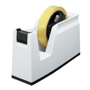 コクヨ テープカッター カルカット 白 大巻き・小巻きテープ両用 T-SM100W