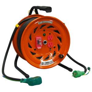 【送料無料】日動工業 極太 3.5(mm2) 電線仕様ドラム びっくリール 延長コード型 30m RND-EK30SF