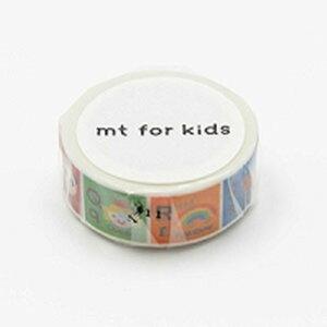 カモ井加工紙 マスキングテープ mt for kids アルファベットN-Z MT01KID014