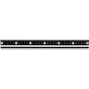 白・黒 直定規 30センチ 黒 APJ281B