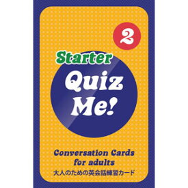 Paul's English Games Quiz Me! Conversation Cards for Adults - Starter, Pack 2 AGS2
