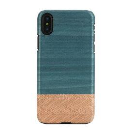 【送料無料】ポスト投函 Man & Wood マンアンドウッド iPhone 5.8/iPhone X 天然木ケース Denim I10488i8