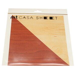 カモ井加工紙 カモイ mt CASA マスキングテープ SHEET 木目 230mm角 3枚パック MT03WS2313
