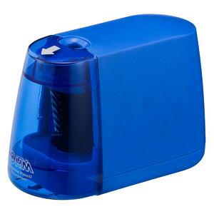 オーム電機 電動えんぴつ削り 乾電池式 ブルー JIM-E01-A
