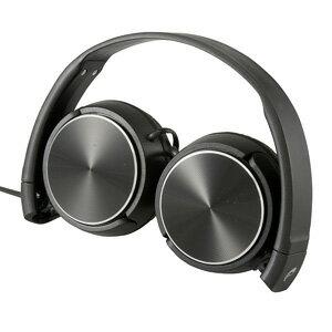 オーム電機AudioCommヘッドホンコンパクトブラックHP-H240N-K