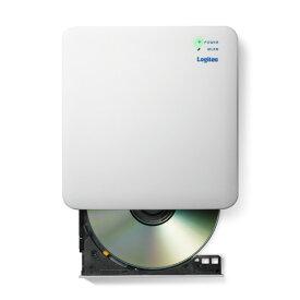 【送料無料】ロジテック Logitec 2.4GHz WiFi CD録音ドライブ ホワイト LDR-PS24GWU3RWH