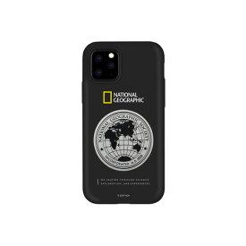 【送料無料】National Geographic ナショナル ジオグラフィック iPhone 11 Pro 背面カバー型 Global Seal Metal-Deco Case ブラック NG17148i58R▽▼
