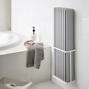 【送料無料】山崎実業 マグネットバスルーム折り畳み風呂蓋ホルダー タワー ホワイト 4860☆★