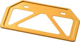 DAYTONA デイトナ 軽量ナンバープレートホルダー カラー:ゴールド / タイプ:リフレクター無し