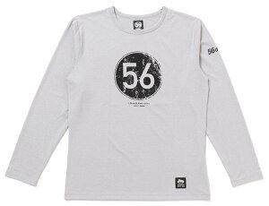 56design 56デザイン XYLITOL COOL&DRY CIRCLE LOGO LONG T-SHIRTKF [キシリトール クール&ドライ ロゴ ロングTシャツ] サイズ:L