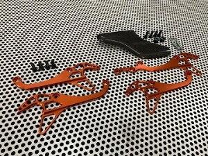 SUPER NOW スーパーナウ カニフック軽量タイプ スプロケットガード:付き(カーボン) / カラー:オレンジ YZF-R1 YZF-R6 YAMAHA ヤマハ YAMAHA ヤマハ