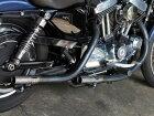MotorRockモーターロックオールドスタイル手曲げマフラーカラー:ベアメタル(表面処理なし)スポーツスターXLHARLEY-DAVIDSONハーレーダビッドソン