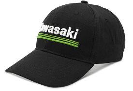 US KAWASAKI 北米カワサキ純正アクセサリー 3 グリーンライン ロゴキャップ【3 Green Lines Logo Cap】
