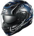 OGK KABUTO オージーケーカブト KAMUI 3 JAG [カムイ・3 ジャグ ブラック ブルー] ヘルメット サイズ:M(57-58cm)